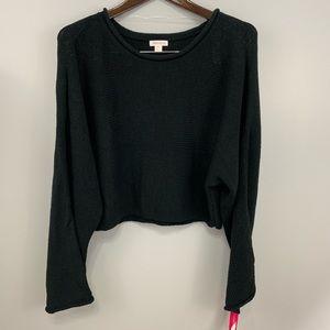 Xhilaration sweater-top-black boho szXXL NWT